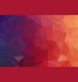 red dark polygonal mosaic background geometric vector image vector image