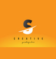 s letter modern logo design with yellow vector image vector image
