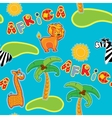 Seamless pattern with cartoon animals - giraffe vector image
