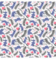 seamless pattern with mouses background with cute vector image