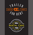 set car rental service elements can be used vector image