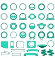 Set of sale badges labels and stickers in cyan vector image