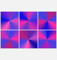 set purple conical gradients vector image vector image