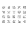 set stock market line icons bull and bear vector image