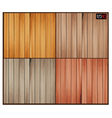 set wood background with wooden texture vector image