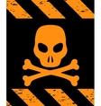 Skull Symbol Danger vector image vector image