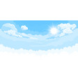 sky background with sun and white bottom vector image