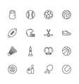sport equipment - flat icons vector image