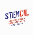 spray paint sctencil style font alphabet letters vector image vector image