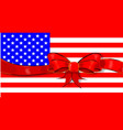 stars and stripes flag ribbon vector image vector image