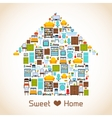 Sweet home concept vector image vector image