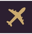 The plane icon Travel symbol Flat vector image