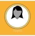 user profile design vector image vector image