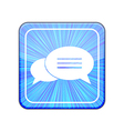 version Bubble speech icon Eps 10 vector image vector image