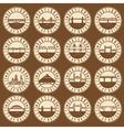Vintage labels set of Portland Oregon USA Retro vector image