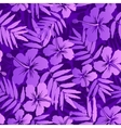 Violet tropical flowers seamless pattern vector image