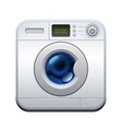 Washing machine Laundry icon vector image
