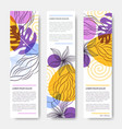 web banners with leaves and flowers vector image