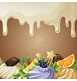 White chocolate sweets background vector image vector image