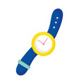 wrist watch accessory object time icon vector image