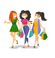 young caucasian white women shopping together vector image vector image