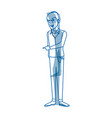 young man student standing cartoon person image vector image vector image
