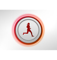 circle red with runner vector image