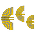 Euro currency sign vector image