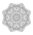 mandala pattern doodle drawing round ornament vector image