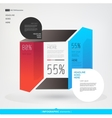 Modern abstract infographics elements Arrows vector image