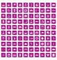 100 loader icons set grunge pink vector image vector image
