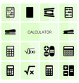 14 calculator icons vector image vector image