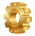 3d golden cog wheel vector image vector image