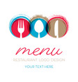 abstract restaurant menu card design vector image vector image