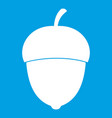 acorn icon white vector image vector image
