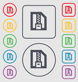 Archive file Download compressed ZIP zipped icon vector image