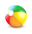 beach ball isolated vector image vector image