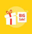 big sale bubble with open gift box vector image