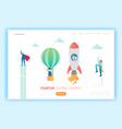 business start up innovation concept landing page vector image