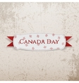 Canada Day greeting Emblem with Ribbon vector image vector image