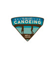 canoeing logo emblem vintage hand drawn travel vector image