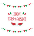 card for italian holiday ferragosto vector image
