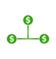 cash flow icon dollar icon vector image