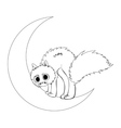 Cat sits on moon2 vector image vector image