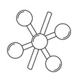 chemical molecule icon vector image vector image