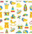 child toys color background pattern on a white vector image vector image
