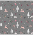 christmas seamless pattern on pastel mood vector image