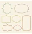 classic empty vintage labels frame set vector image vector image