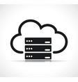 cloud server symbol icon vector image vector image
