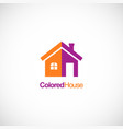 colored house design company logo vector image vector image